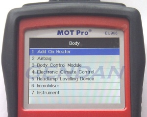 Body Controller Systems (2004 Vauxhall Corsa C)