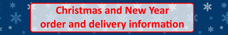 Christmas and New Year delivery information