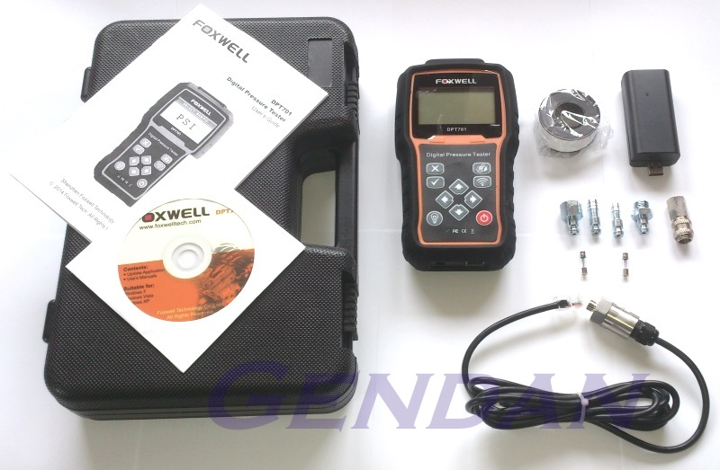 Foxwell DPT701 Digital Pressure Tester - Package Contents