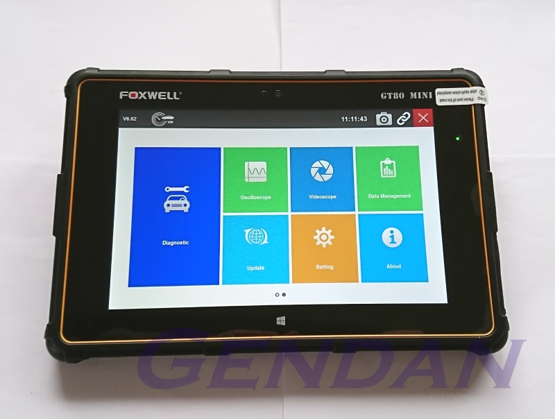 Foxwell GT80 Mini Windows 10 Touchscreen Tablet Diagnostic