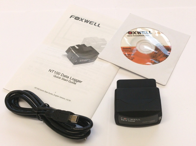 Foxwell NT100 Data Logger - Package Contents