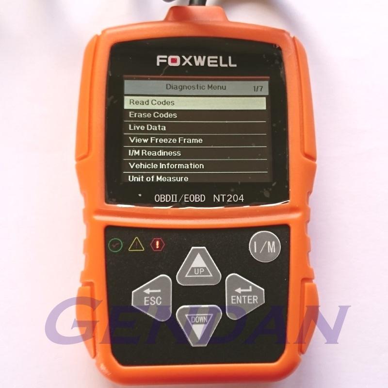 Foxwell NT204 EOBD OBD-II Diagnostic Scan Tool with live