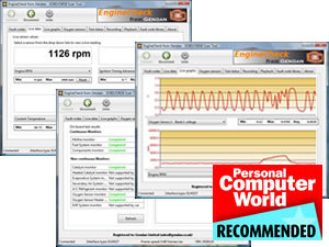 EngineCheck diagnostics software - click for more details