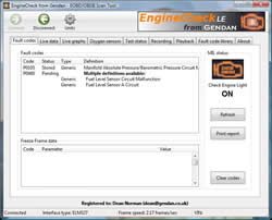 EngineCheck Lite screenshot