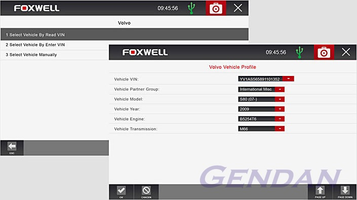 Foxwell GT80 Plus - Vehicle VIN detection
