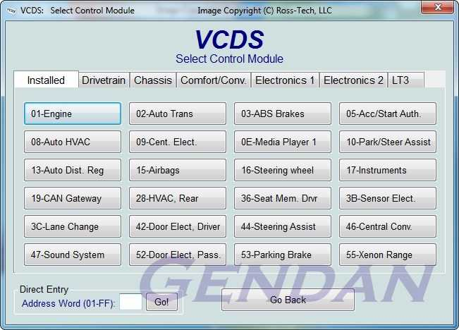 VCDS USB PC diagnostics package for CAN-only VW, Audi, Seat